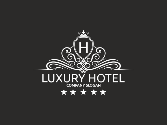 luxury hotel logo templates on creative market