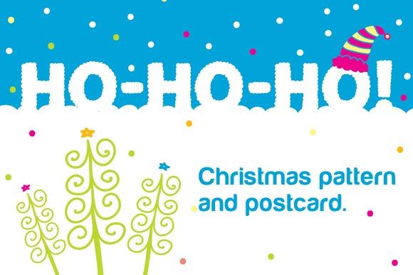 Ho-ho-ho Christmas Seamless Pattern