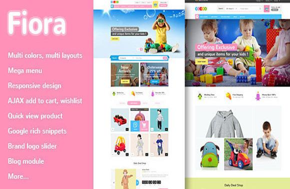 Fiora Kids Responsive MagentoTheme