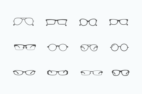 12 Glasses And Spectacle Icons