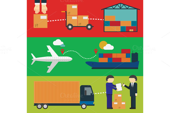 Logistic Infographics