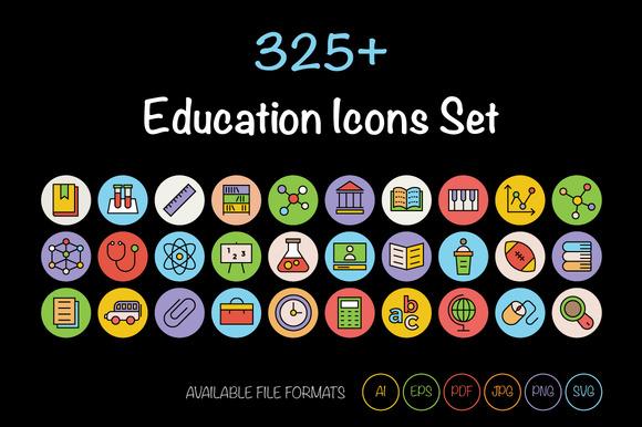 325 Education Icons Set