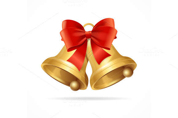 Christmas Bell. Vector - Objects