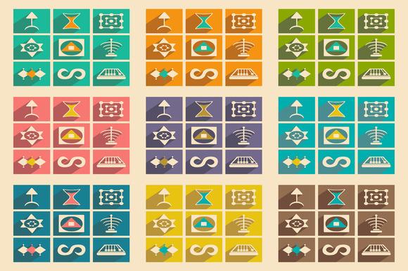 Flat Alchemical Signs Concept