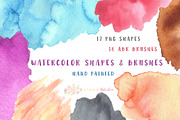 Watercolor Splotches Shapes-Graphicriver中文最全的素材分享平台