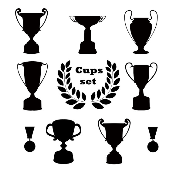 Trophies Set Of Silhouettes