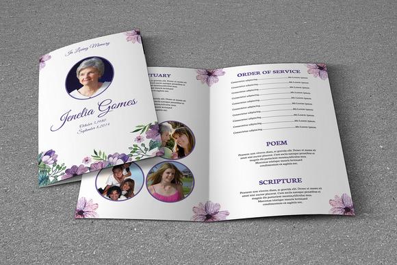 printable funeral program template sistec