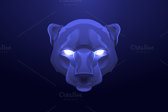 Panther Head Vintage Label
