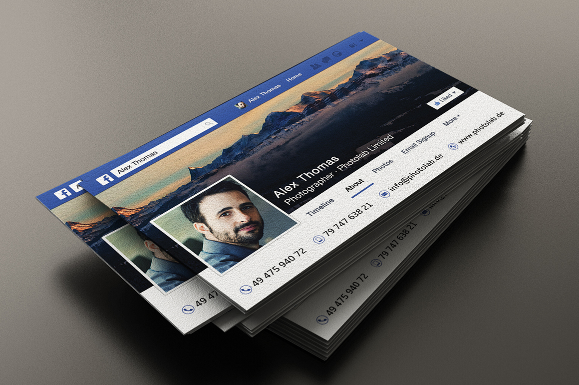 facebook business card business card templates on