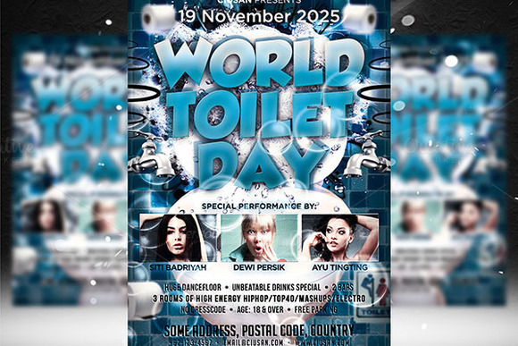 CM - World Toilet Day Flyer Template 414468