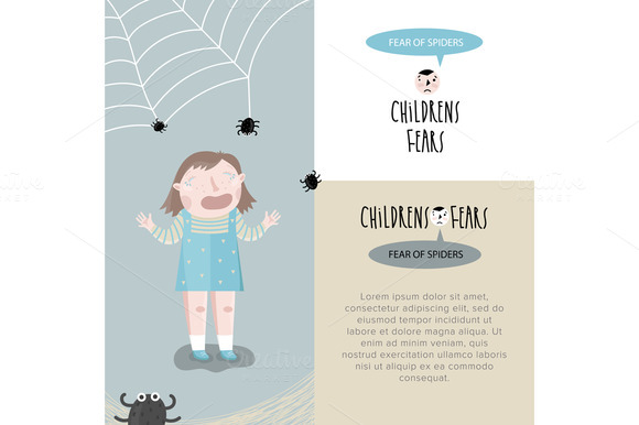 Childrens fears. Vector illustration - Illustrations