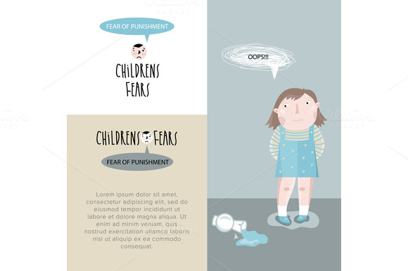 Childrens fears. Vector illustration - Illustrations