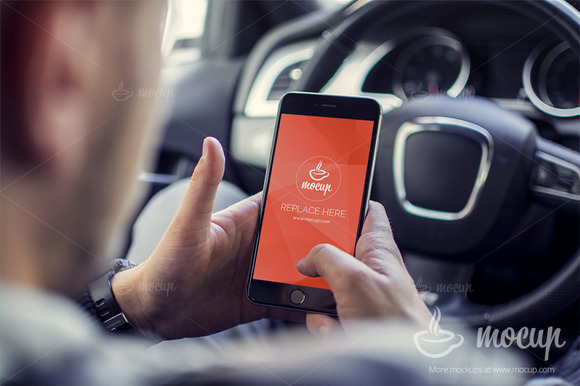 PSD Mockup IPhone 6 Plus Driver