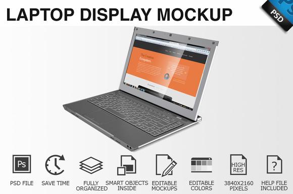 Laptop Display Mockup 01