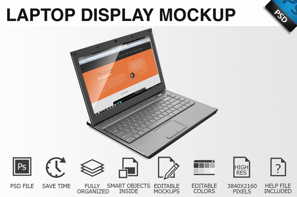 Laptop Display Mockup 06