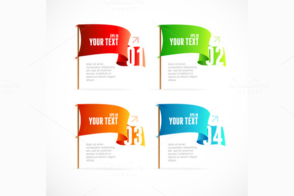 Flags Like Options Banner. Vector - Illustrations