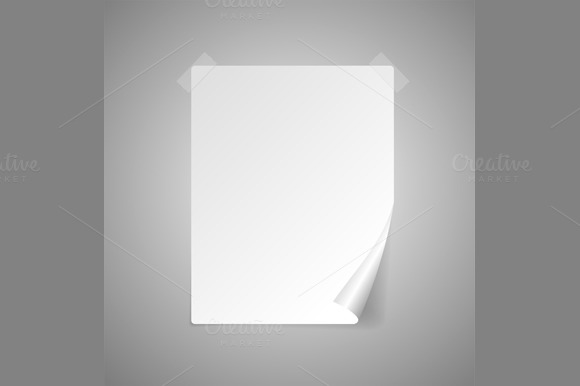 Paper Isolated on Gray. Vector - Objects