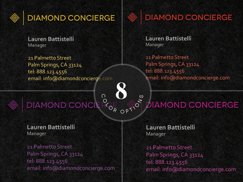 concierge business card template