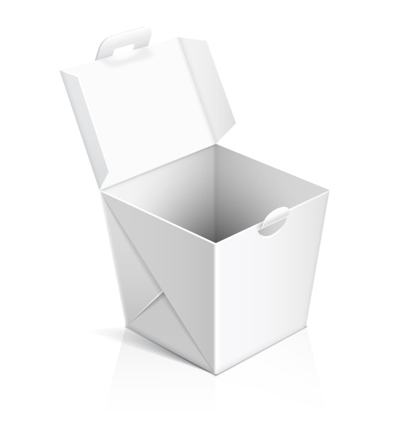 Chinese Food Opened Take Out Box