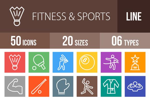 50 Fitness Sports Line Multicolor