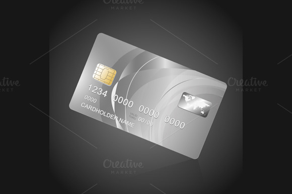 VIP Card Silver on Black. Vector - Objects