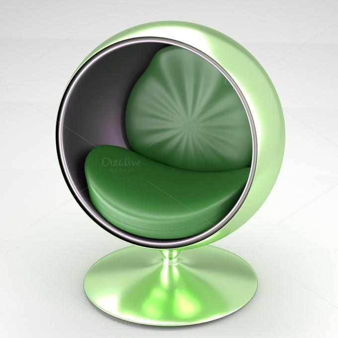 Spherical modern chair