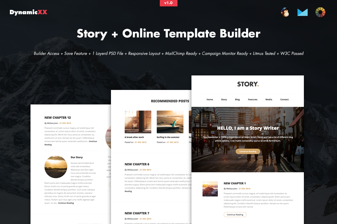 Story Online Template Builder Email Templates On