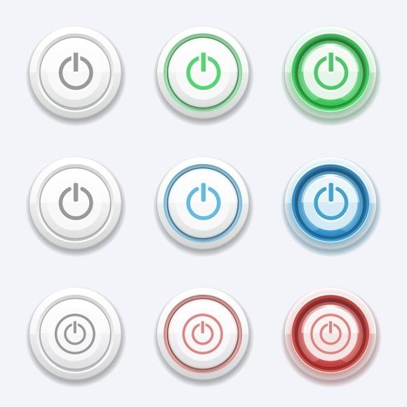 Vector Start Or Power Button