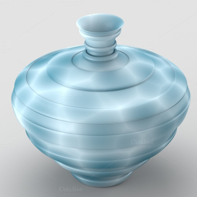Decorative spotted vase in cold tone