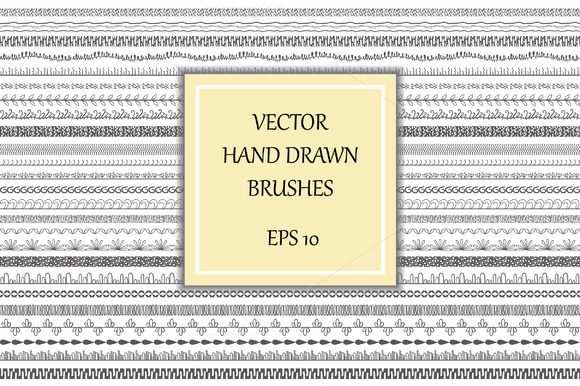 Decorative Brushes Borders