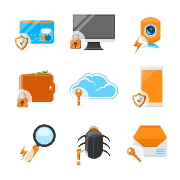 Electronic Devices Security Icons