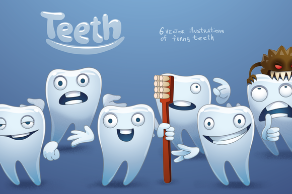 Teeth Bundle Vector