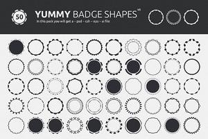 Yummy Badge Shapes V2