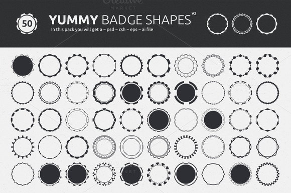 Yummy Badge Shapes V2