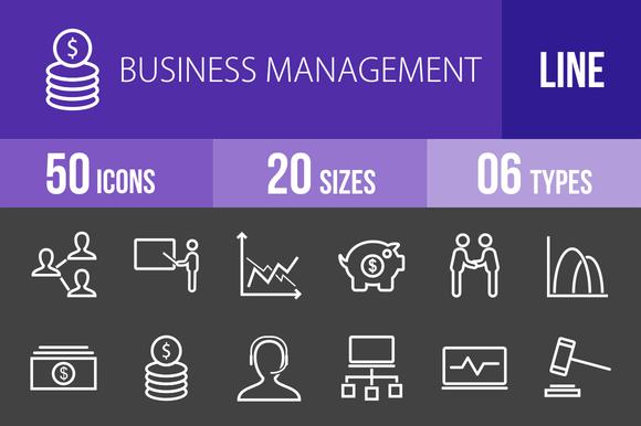 50 Business Management Line Inverted