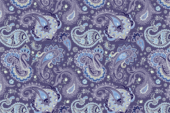 2 Seamless Paisley Patterns
