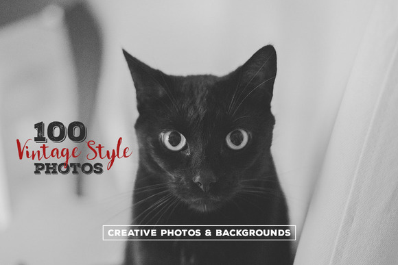 100 Vintage Style Photos v.4 - Graphics