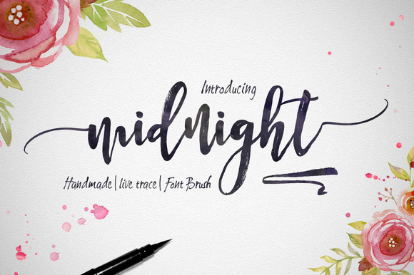Midnight ~ Script Fonts on Creative Market