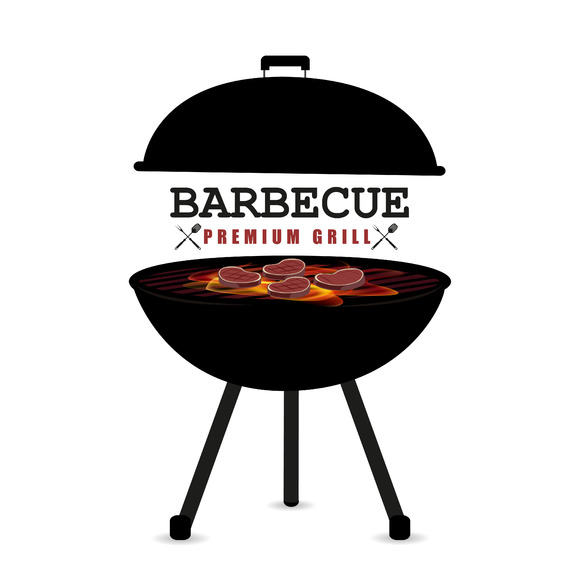 Barbecue vector illustration objects on creative market
