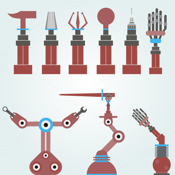 set of robots. template for you - Illustrations