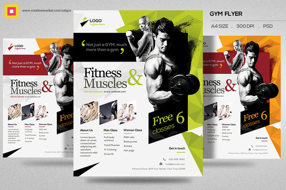 CM Fitness Flyer Gym Flyer V11 421479 Heroturko Download – Free Fitness Flyer Templates