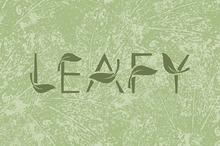 LEAFY art font