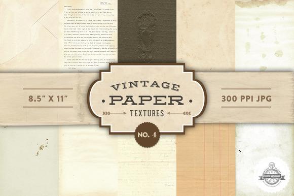 Vintage Paper Textures - No. 4 - Textures
