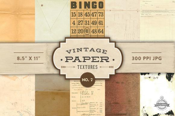 Vintage Paper Textures - No. 7 - Textures