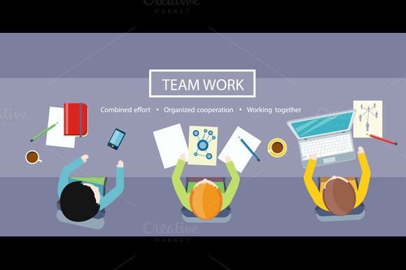 Team Work Concept. Business Meeting - Illustrations