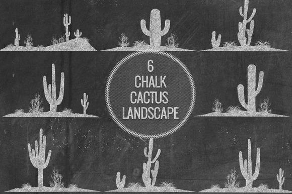Chalk Cactus Landscape