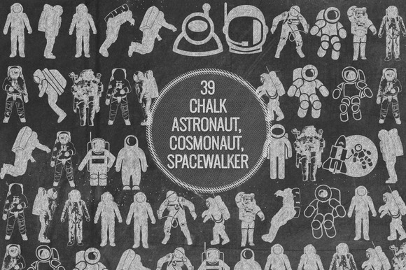 Chalk Astronaut Cosmonaut Spacewalke