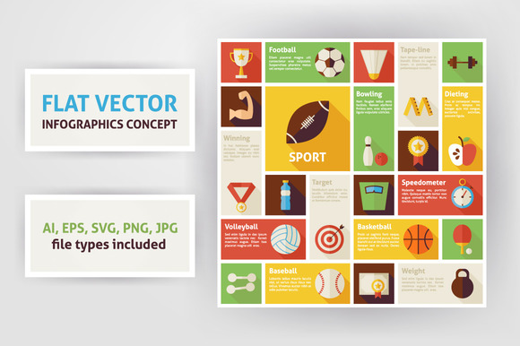 Sport Competition Flat Infographics