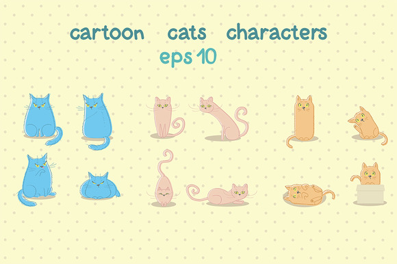 Cartoon Cat Characters