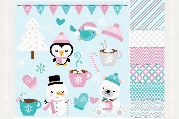 Clipart Combo Frosty Friend